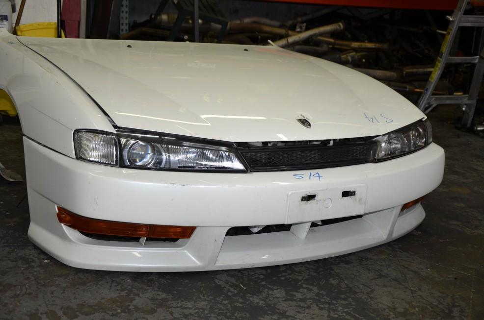 _DSC7359 Nissan Silvia S14 JDM OEM Kouki Front Nose Cut ...
