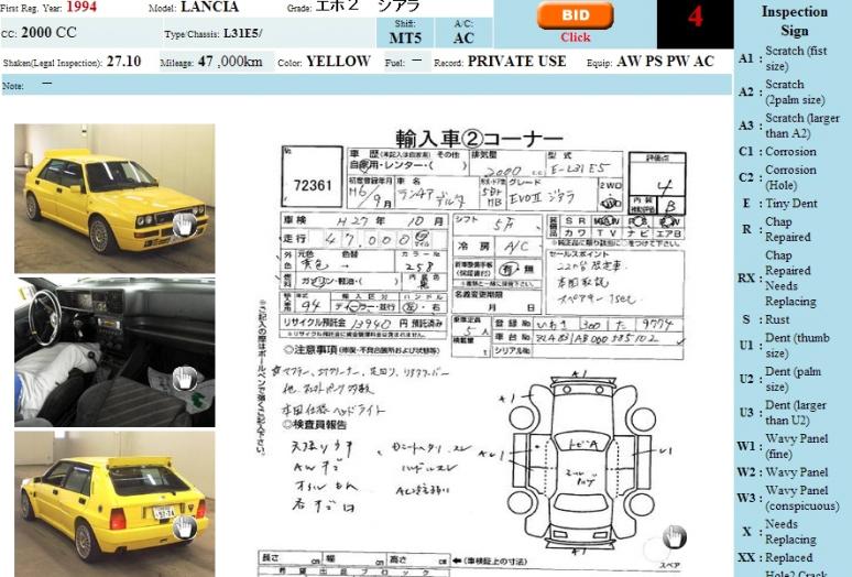 Lancia Delta Integrale 1994 Yellow 1 of 200 06.2014