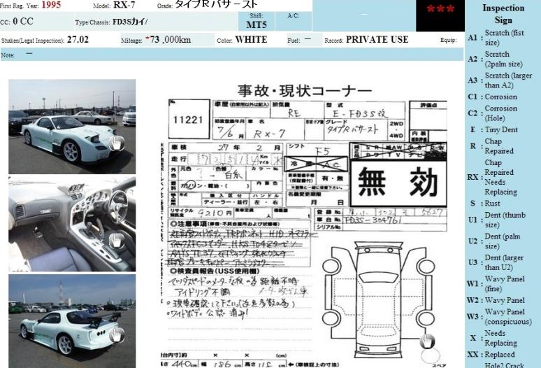 Mazda RX7 RE Amemiya GT500 Full Kit 1995 06.2014