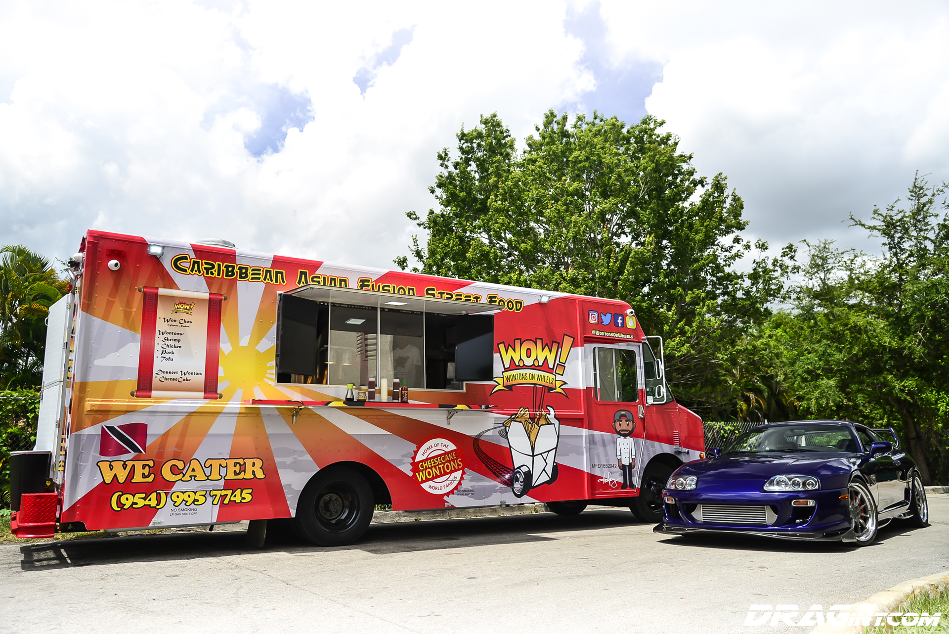 Happy Friday Feeding the Big Juice Supra with WOW Wontons on Wheels