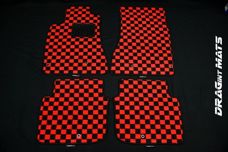 Dragintmats Custom Checkered Floor Mats Jdm Style